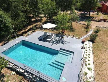 Toskana - alleinstehendes Ferienhaus mit Pool